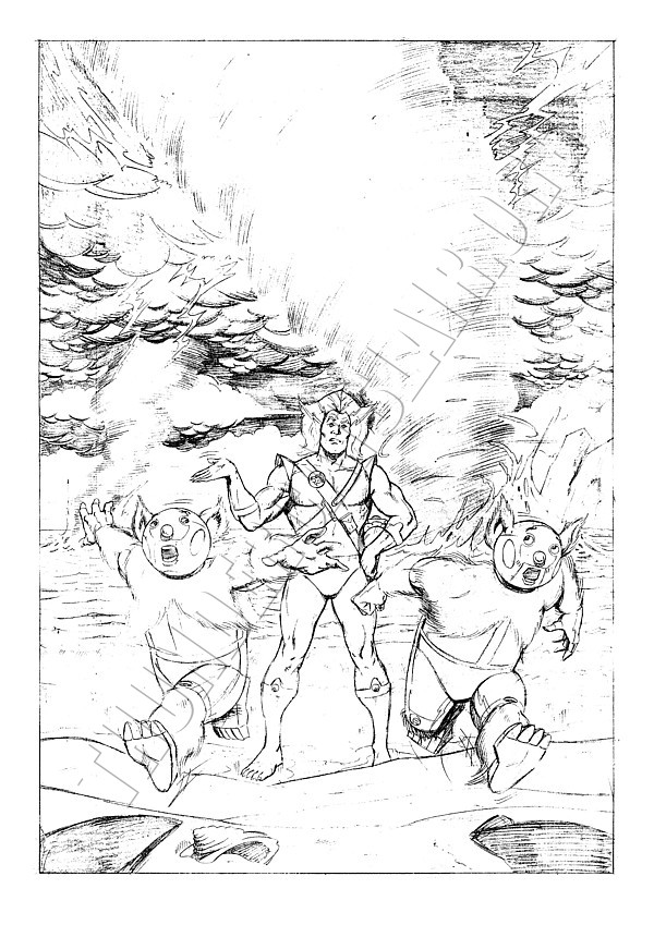 Marvel UK - ThunderCats Issue 70 Cover (pencils)