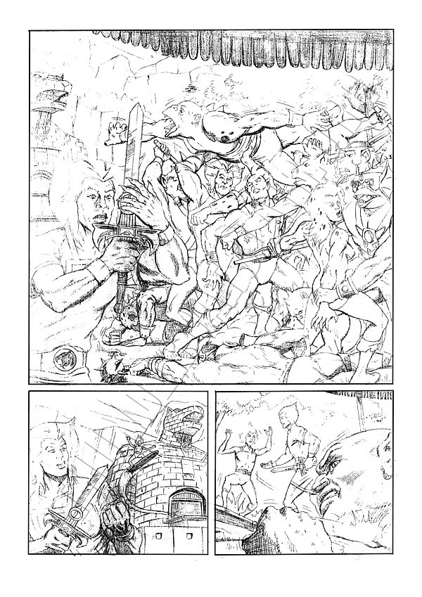 Marvel UK - ThunderCats Issue 81 Page 1 (pencils)