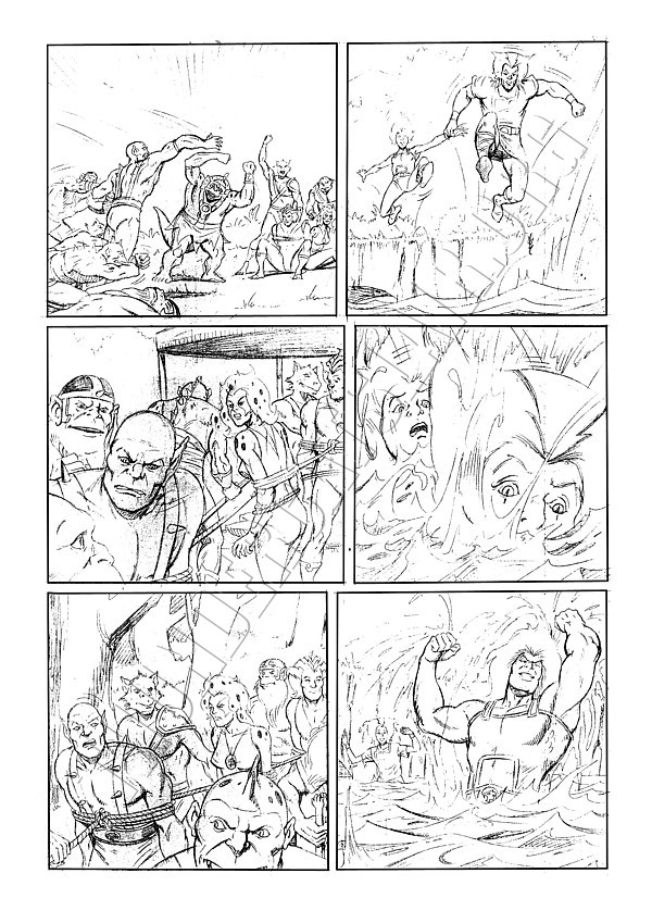 Marvel UK - ThunderCats Issue 81 Page 4 (pencils)