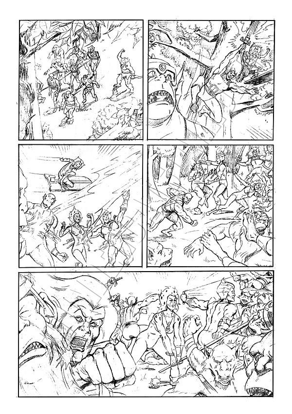Marvel UK - ThunderCats Issue 81 Page 5 (pencils)