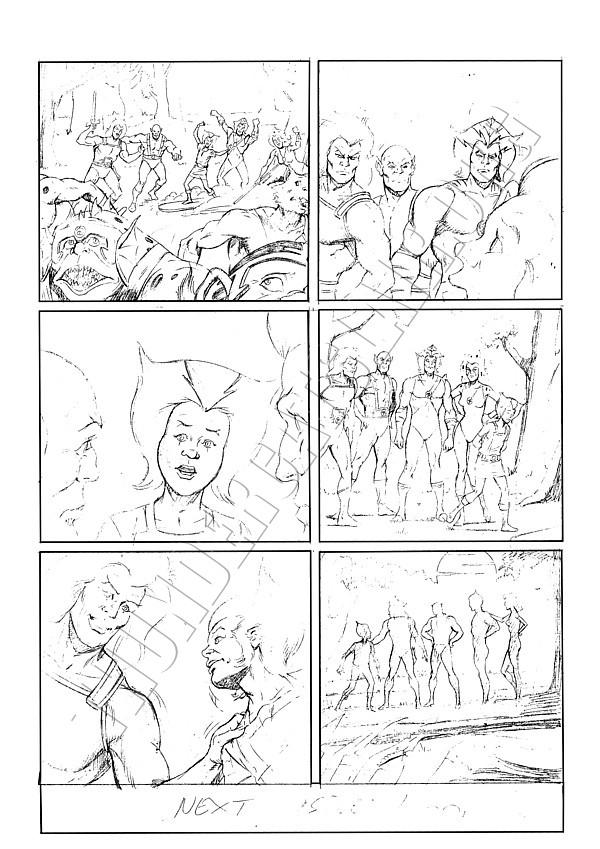 Marvel UK - ThunderCats Issue 81 Page 6 (pencils)