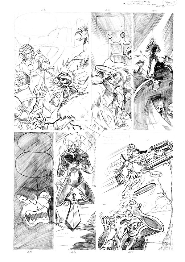 Marvel UK - Unused Pencils - Story page 9