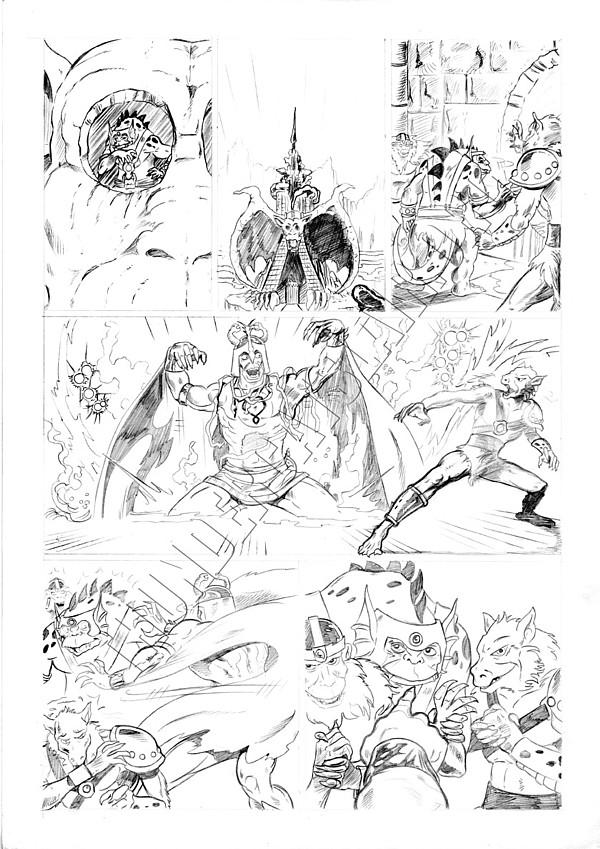 Marvel UK - Unused Pencils - Story page 1
