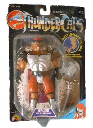 LJN ThunderCats Grune The Destroyer - Mint On Card