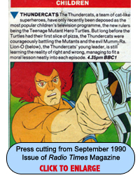 ThunderCats in the Radio Times