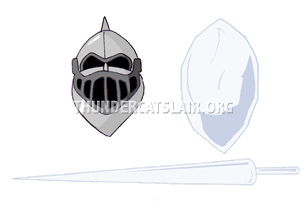 ThunderCats Encyclopedia - Snowman's lance, battle shield and helmet