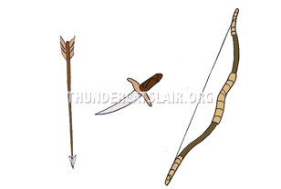ThunderCats Encyclopedia - Warrior Maidens' knife, bow and arrow