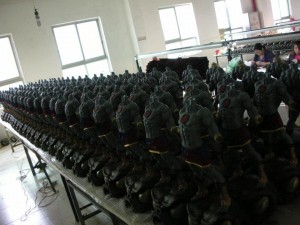Mumm-Ra in production in the factory in China
