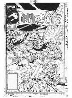 ThunderCats comic art - Star (Marvel) Issue 2 cover