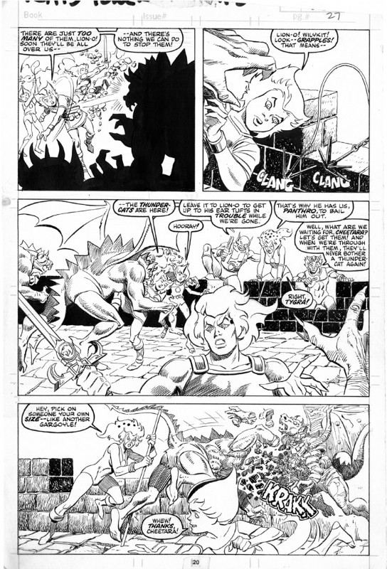 ThunderCats comic art - Marvel (Star) Issue 17, page 27