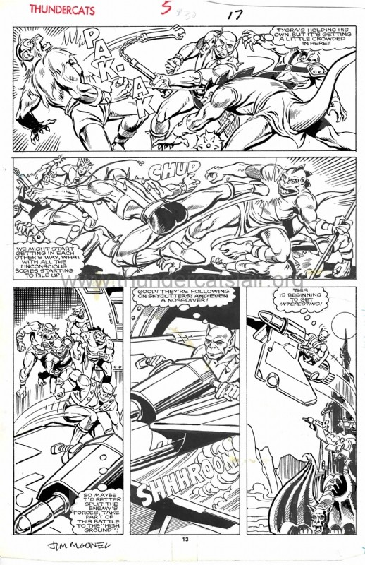 ThunderCats comic art - Star (Marvel) Issue 5, page 17