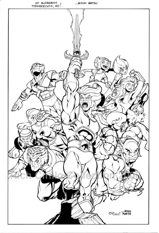 ThunderCats comic art - DC/Wildstorm Issue #1 - Cover