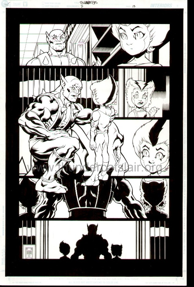 ThunderCats comic art - DC/Wildstorm Issue #2 - Page 13