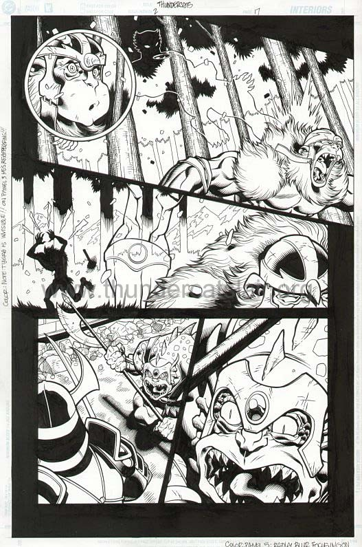 ThunderCats comic art - DC/Wildstorm Issue #2 - Page 17