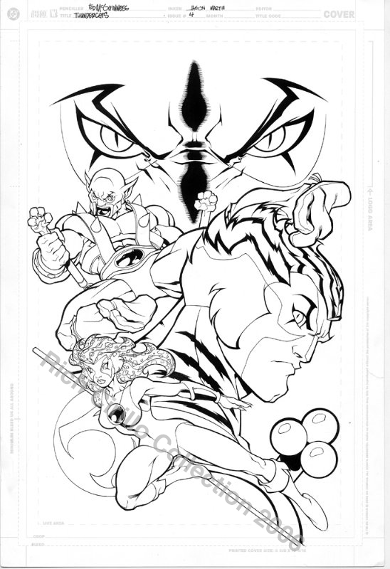 ThunderCats comic art - DC/Wildstorm Issue #3 - Cover