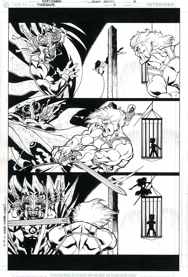 ThunderCats comic art - DC/Wildstorm Issue #4 - Page 16