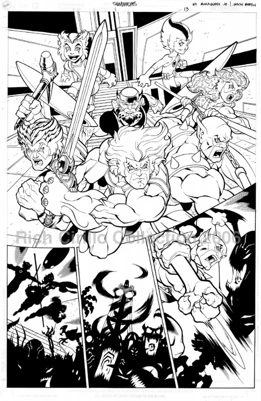 ThunderCats comic art - DC/Wildstorm Issue #1 - Page 13