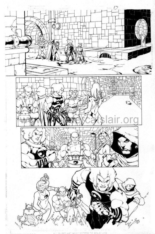ThunderCats comic art - DC/Wildstorm - The Return Issue #4 - Page 13