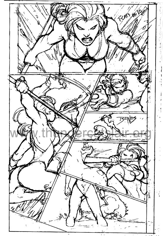 ThunderCats comic art - DC/Wildstorm - The Return Issue #4 - Page 15 (prelim)