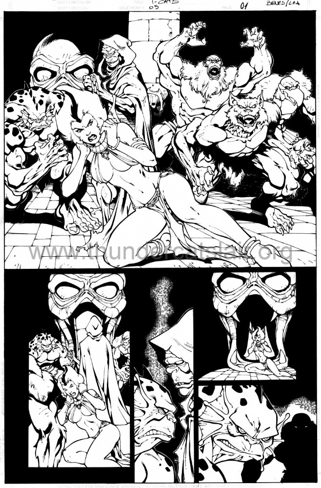 ThunderCats comic art - DC/Wildstorm - The Return Issue #5 - Page 1