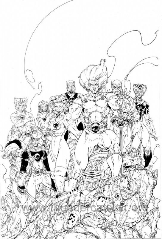 ThunderCats comic art - DC/Wildstorm - Dogs of War Issue #5 - Cover