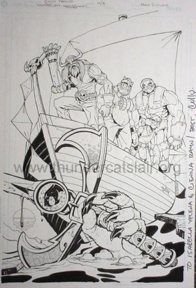 ThunderCats comic art - DC/Wildstorm - Hammerhand's Revenge Issue #5 - Variant Cover