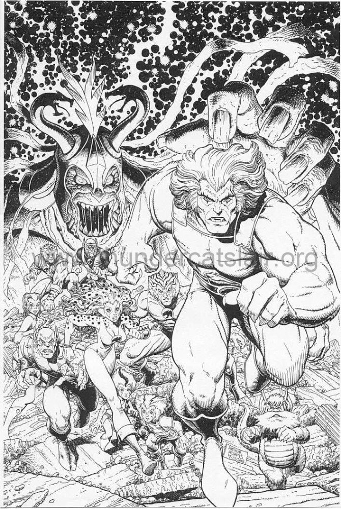 ThunderCats comic art - DC/Wildstorm - ThunderCats Sourcebook - Cover