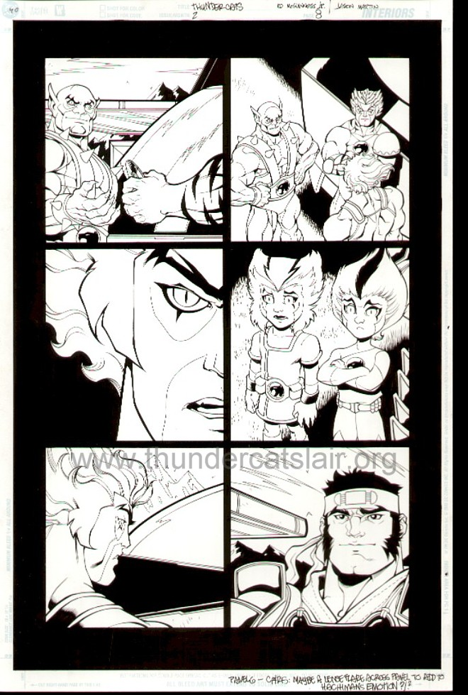 ThunderCats comic art - DC/Wildstorm Issue #2 - Page 8