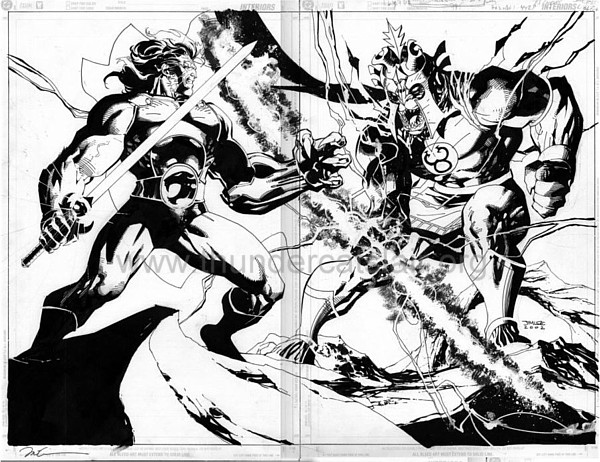 ThunderCats comic art - DC/Wildstorm - ThunderCats Sourcebook - Pages 30 and 31