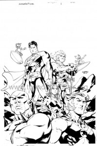ThunderCats comic art - DC/Wildstorm - Superman / ThunderCats - Cover