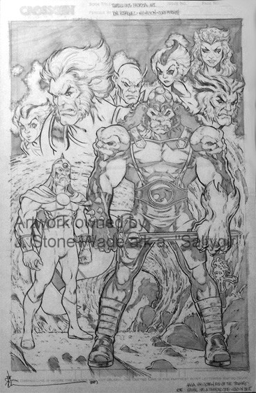 ThunderCats comic art - DC/Wildstorm - ThunderCats Unused Cover / Pin-Up