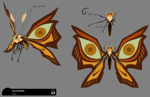 Butterfly Lucy concept. This is the colored concept of Lucy as a butterfly. I'll post the drawing version next. (Dan Norton May 2012)