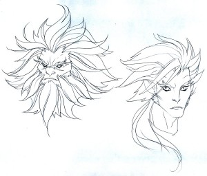 Claudus and Lion-O concepts. Here are some head shots. Exploring something a bit more serious and intense. (Dan Norton Mar 2012)