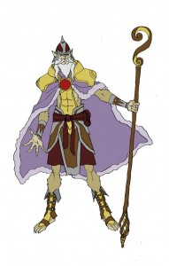 Jaga concept 1. Here was the first concept of Jaga for the new show ThunderCats. (Dan Norton Jun 2012)