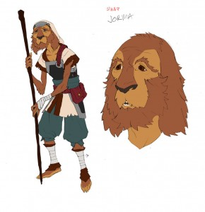 "Jorma the merchant. This was the Dog merchant Lion-O meets with to find ""technology"" to tinker with. I was really happy with him. Used an Irish Setter as the inspiration."