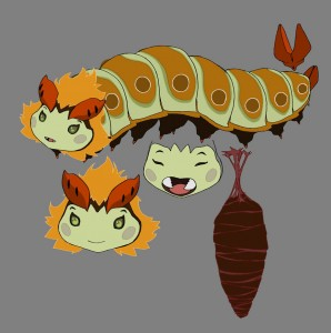 Lucy Caterpillar concept 2. Here's the color concept for Lucy. (Dan Norton May 2012)
