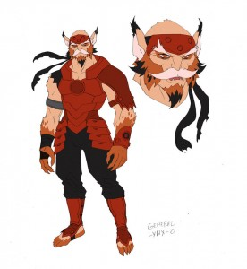 Lynxo concept. This was the new concept for Lynxo in the new ThunderCats cartoon. He appeared veeeery briefly in episode 2 before the Lizard Army attacked. (Dan Norton Mar 2012)