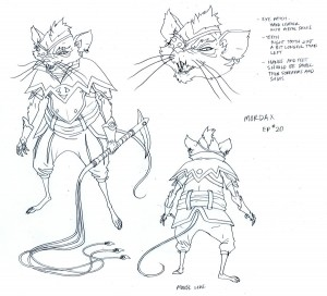 Mordax concept. You'll see some of the design notes for the show here. (Dan Norton May 2012)