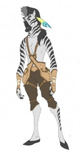 Zyrock. This is a character you'll never see in an episode of TCats, but he was part of a brainstorm session I had for a story. I was dippin' into a Western like bit and the character Zyrock was inspired by Native Americans. He would have been a scout for a grazer tribe that the TCats would have meet up with. Who knows, maybe we'll see him the background somewhere.... Don't know where though. (Dan Norton Apr 2012)