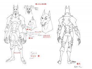 Shen concept 1. For episode 7 of ThunderCats I had to design the first of the Dog people we've seen in the series so far. I was going for a cross of a pit bull and a weimaraner. (Dan Norton Mar 2012)