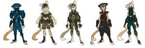 WilyKat costume alts. Wilykat also had some costume alts. Again, all digital, very quick and simple. (Dan Norton Jun 2012)