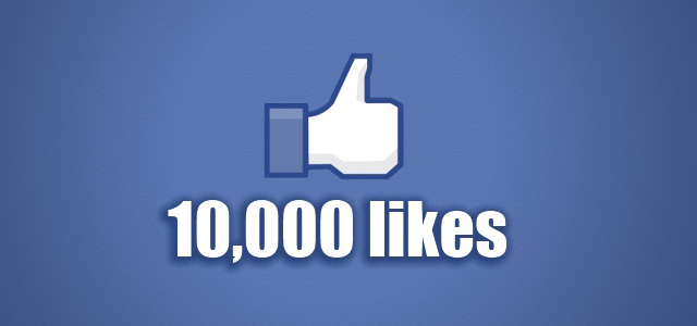 Our Facebook page just passed 10,000 likes