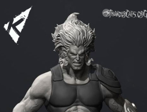 Kinetiquettes reveal 3D sculpt of Lion-O (work in progress)