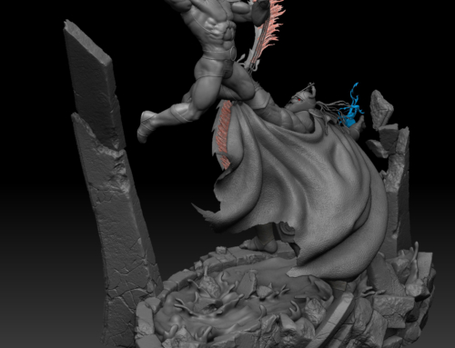 Exclusive first look at Kinetiquettes Lion-O vs Mumm-Ra diorama statue.