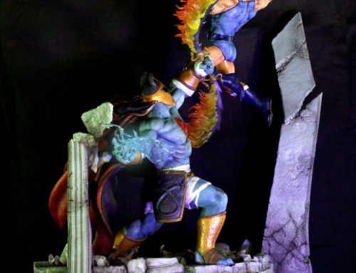 Kinetiquettes Lion-O vs Mumm-Ra diorama