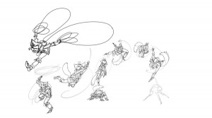 More action poses. These in particular are for WilyKat of the new ThunderCat series.