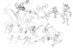 Addicus Kaynar action poses. Here are some more action poses for our new Villians for ThunderCats this season. There are a few hero poses sprinkled in the mix as well. This just shows how I approach drawing in general. (Dan Norton Mar 2012)