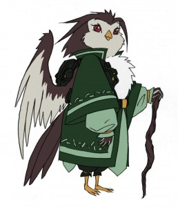 Bird men concepts 2. This was going to be the judge in episode 14 of the new ThunderCats series but the character didn't carry the weight of an authoritative figure. She may show up somewhere.... Don't know where. (Dan Norton May 2012)