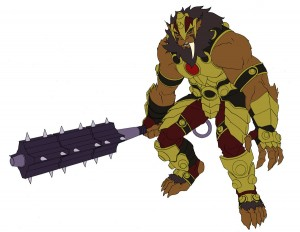 Grune the Destroyer Concept. This was one of the first concept pieces for Grune the Destroyer for the new ThunderCats show. (Dan Norton Mar 2012)