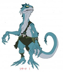 Lizard slave 1. Concept for one of the lizards enslaved by the Tcats. Episode 1. re: Gollum similarity: Wink wink... that was the point! Being Rankin Bass produced the animated version and also did the original ThunderCats, I tried to pull ref that brought back that sensibility.